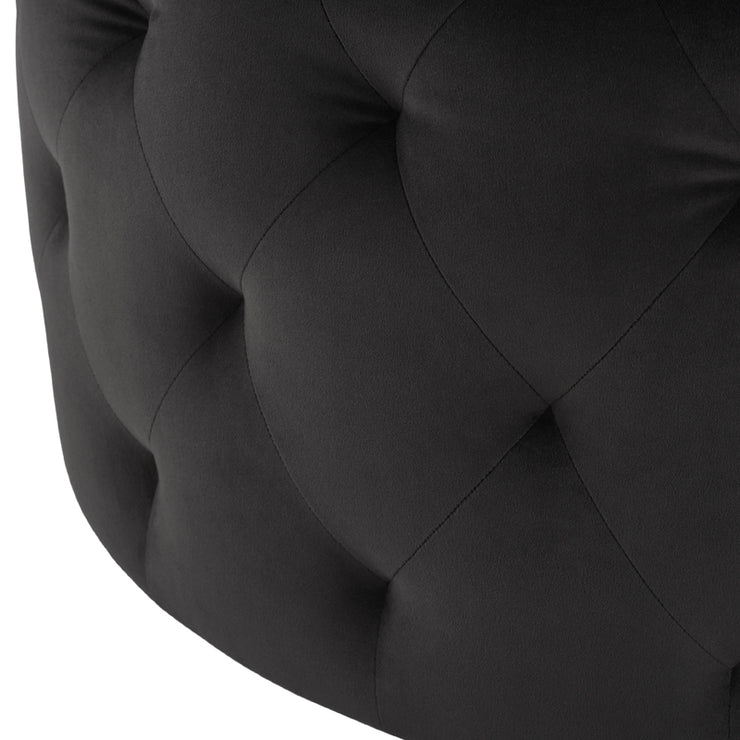 Tufty Round Ottoman Sofa - Shadow Grey