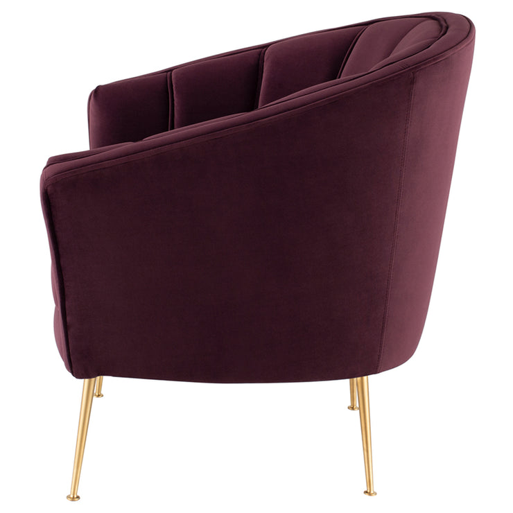 Aria Occasional Chair - Mulberry