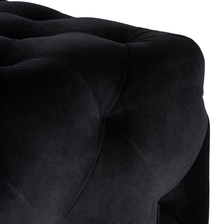 Tufty Rectangle Ottoman - Black