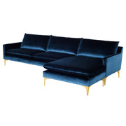 Anders Sectional Sofa - Midnight Blue