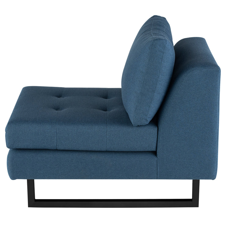 Janis Sectional Extension - Lagoon Blue / Black