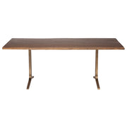 Samara Dining Table - Seared / Bronze