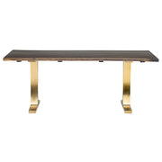 Toulouse Boule Dining Table - Seared / Gold