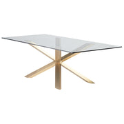Couture Dining Table - Clear / Gold