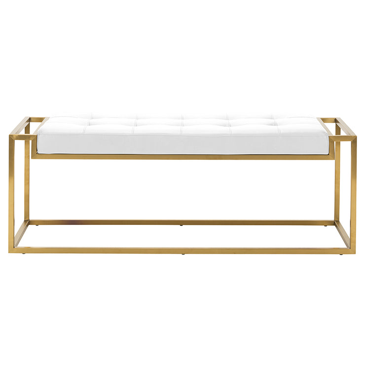 Step Occasional Bench - White / Gold
