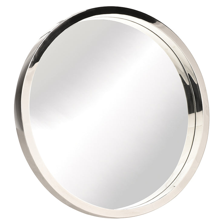 "Julia 36"" Round Wall Mirror - Silver"