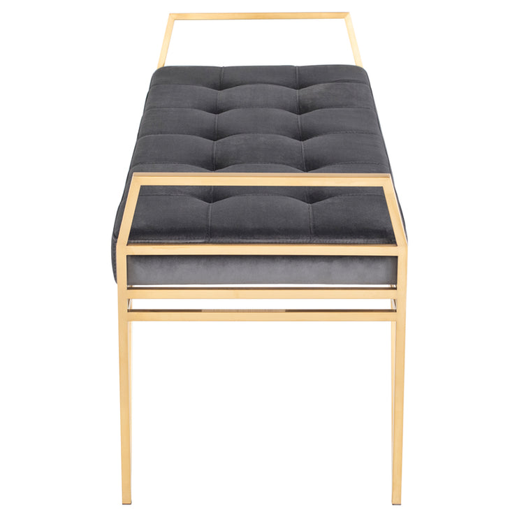 Solange Occasional Bench - Tarnished Silver / Gold