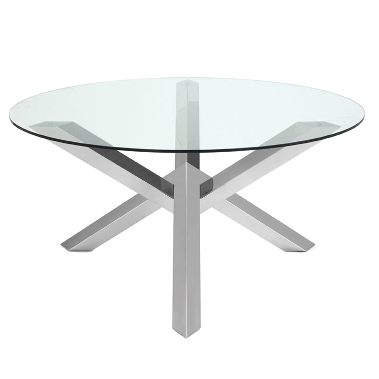 Costa Round Dining Table - Silver