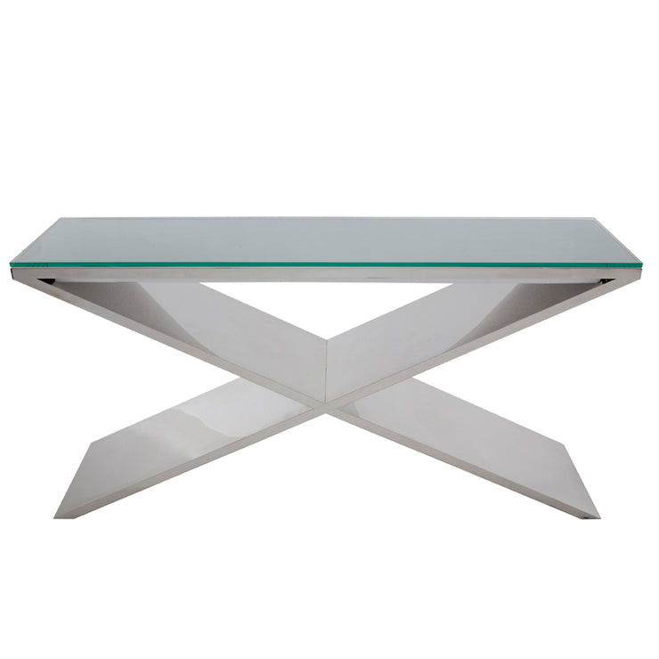 Prague Console Table - Silver