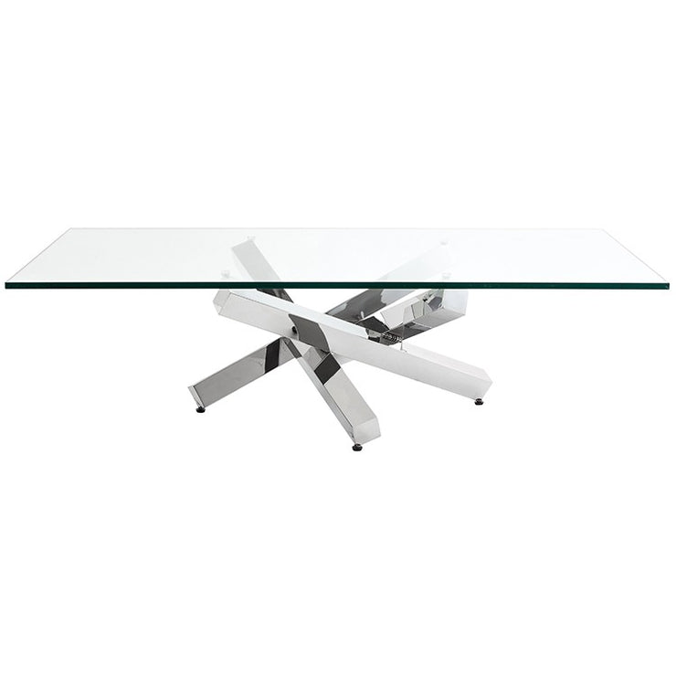 Henri Coffee Table - Clear / Silver