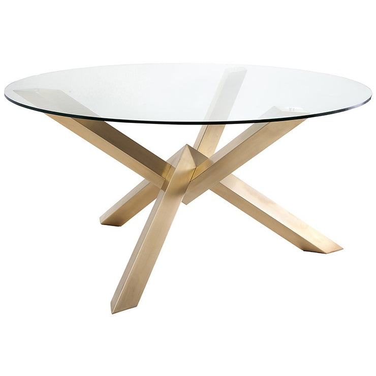 Costa Round Dining Table - Gold