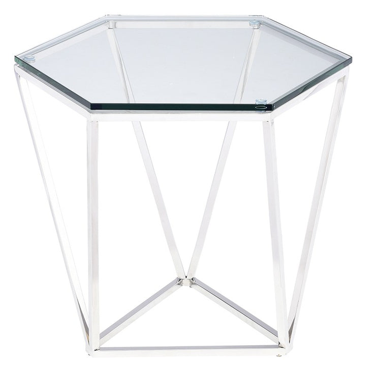 Louisa Side Table - Silver