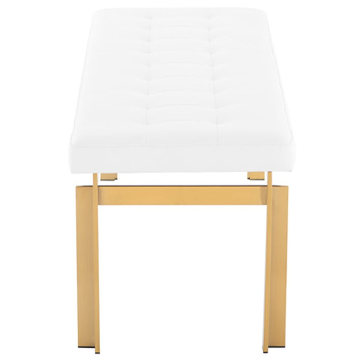 Vincent Occasional Bench - White / Gold