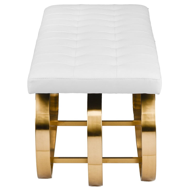 Dante Occasional Bench - White / Gold