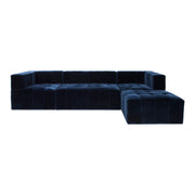 Orpheus Sectional Sofa - Navy Velvet