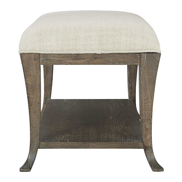 Rustic Patina Upholstered Bench - Dark