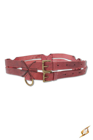 Twin belt - Red - 120cm