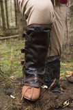 Leather Gaiters - Brown