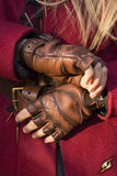 Celtic Gloves Leather - Brown