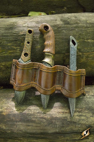 Rogue Knife Set Holder - Brown