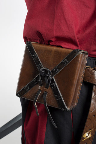 Square Leather Bag - Brown