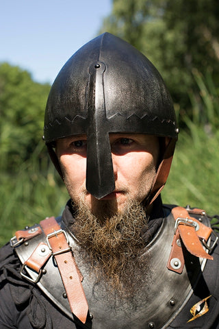 Norman Nasal Helmet - Epic Dark