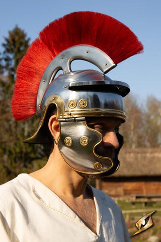 Roman Trooper w. Plume - Red - Medium