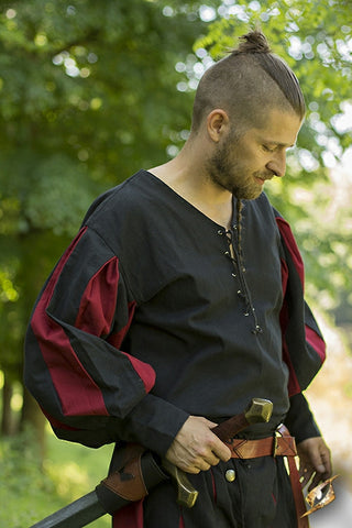 Landsknecht Shirt - Epic Black/Dark Red
