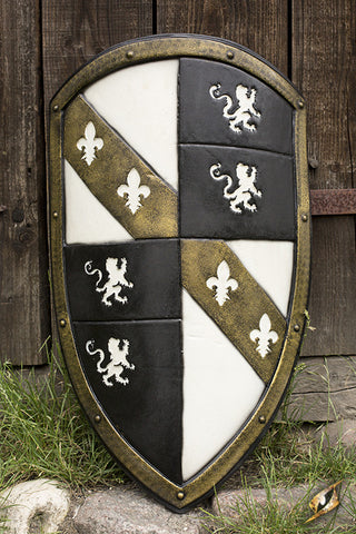 Lion Shield - White/Gold