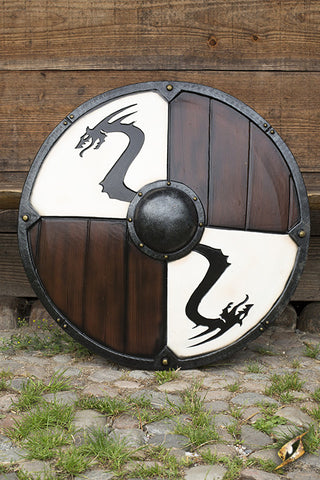 Viking Dragon Shield - White
