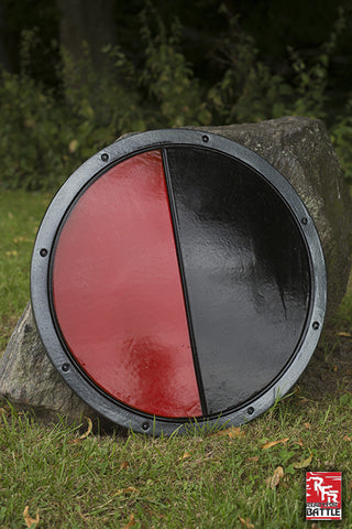 RFB Round Shield - Black - Red