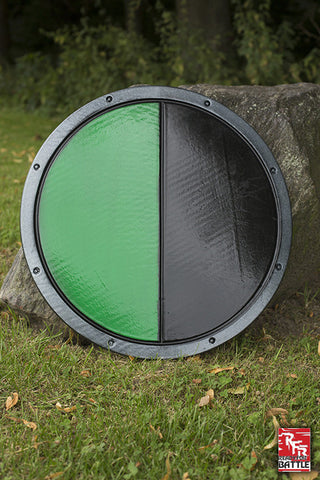 RFB Round Shield - Black - Green