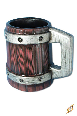 Beermug with metal bands - 20 cm