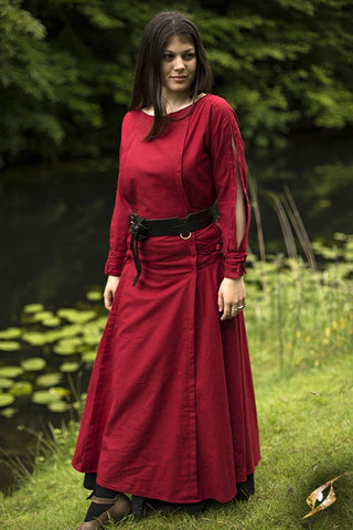 Priestess Dress - Dark Red