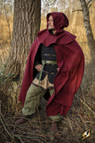 Cloak Wool - Dark Red