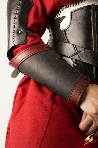 Bracers Warrior - Black/Red