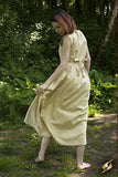 Peasant Dress - Desert Beige
