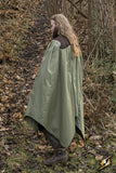 Cape Edrahil - Dark Brown / Dryad Green - One Size