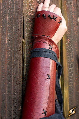 Samurai Bracers - Red