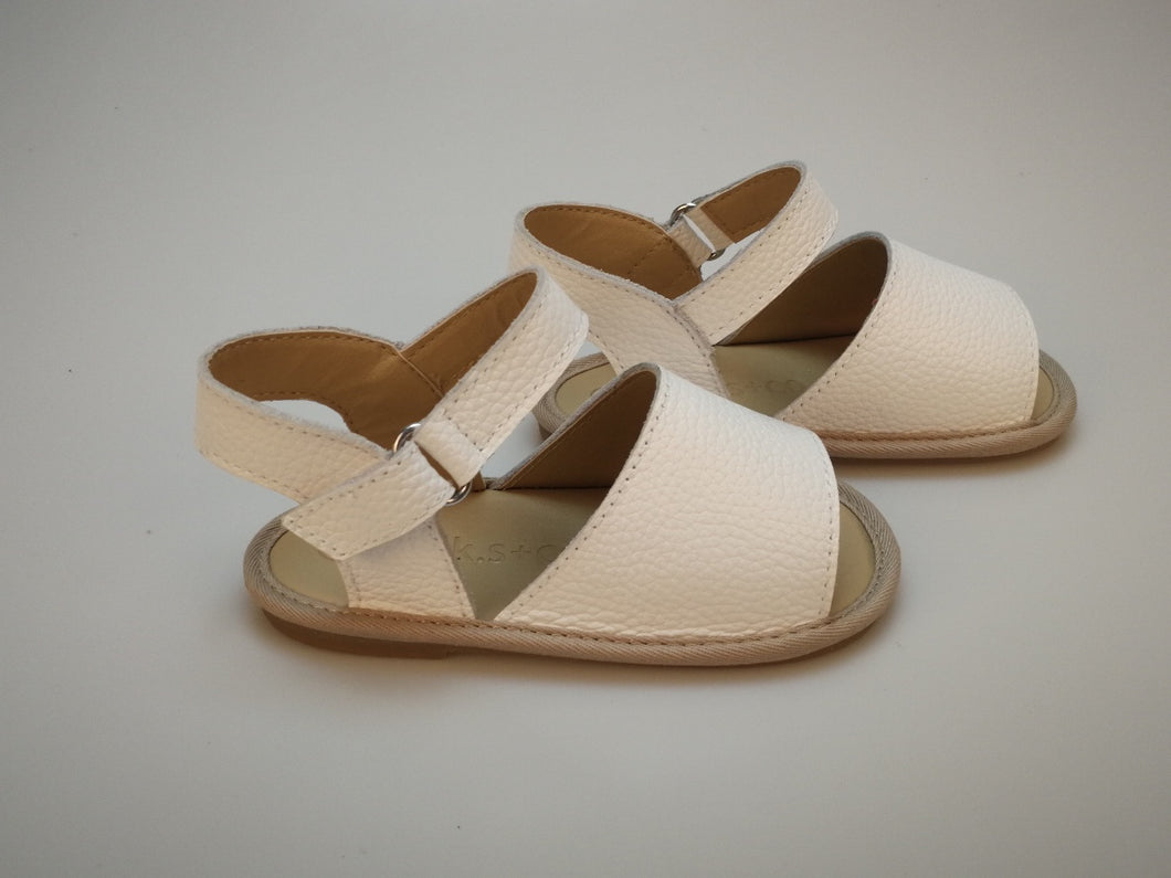 Charlie Sandals - Vivid White (Soft & Hard Soles)