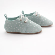 Harper Oxfords - Mint/Silver Dots