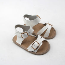 Frankie Sandals - Vivid White (Soft & Hard Soles)