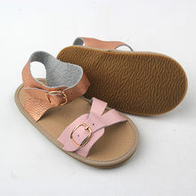 Frankie Sandals - Rose Gold/Pink (Soft & Hard Soles)