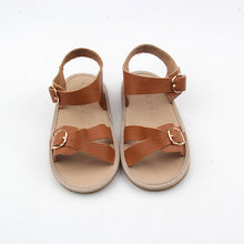 Frankie Sandals - Autumn Brown (Soft & Hard Soles)