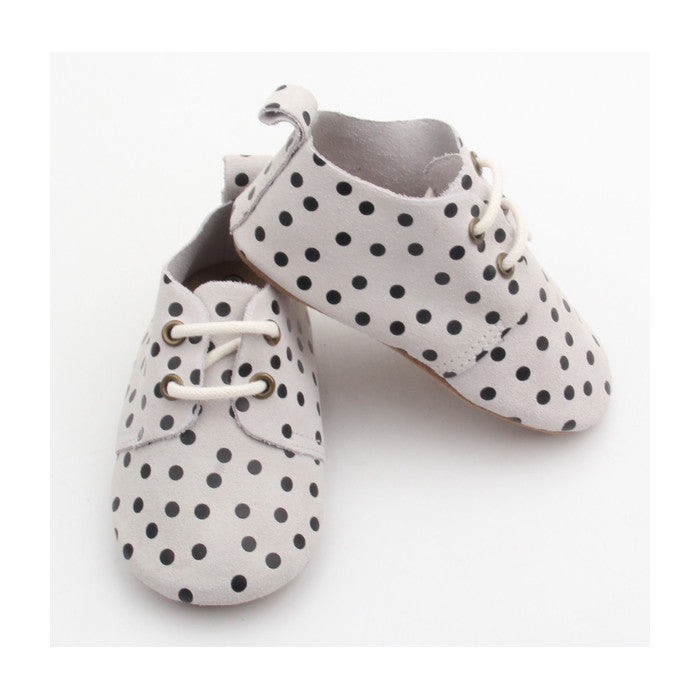 Harper Oxfords - Polka Dots (Soft & Hard Soles)
