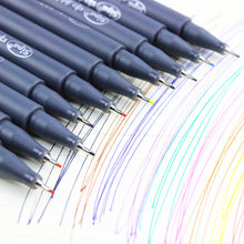 0.38mm Fine line drawing gel pen for cartoon Water Color pens Stationery (10 pcs/Lot)