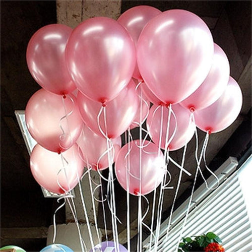 10-inch Pearl Latex Balloons 21 Colors (10pcs) - Balloons only (unfilled)
