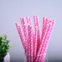 Stripe/Red Square/Dot/Heart/Star Paper Straws for Birthday/Wedding Decorative Party Creative Colorful Drinking Straws (25pcs)