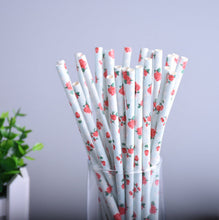 Stylish Blue Stripe/Dot/Star Drinking Paper Straws for Wedding Decoration (25pcs)