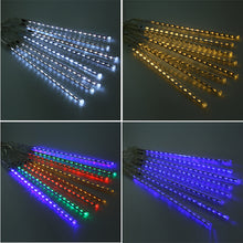 EU/US Plug Multi-color 30CM Meteor Shower Rain Tubes LED Christmas Lights Wedding Garden Xmas String Light Outdoor